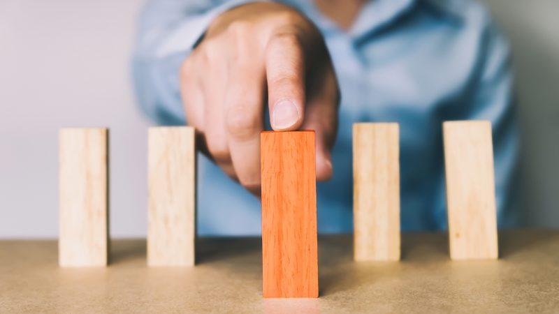 Business concept in choose idea person.